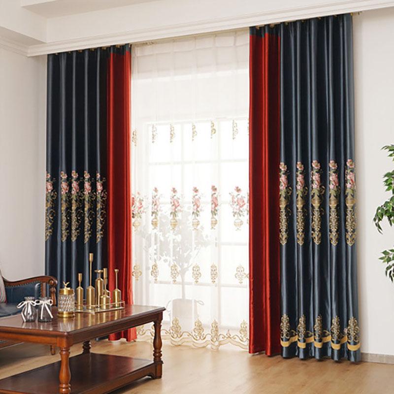 Elegant Ventilate Custom Living Room Sheer Curtains 30% Shading Rate No Pilling No Fading No off-lining