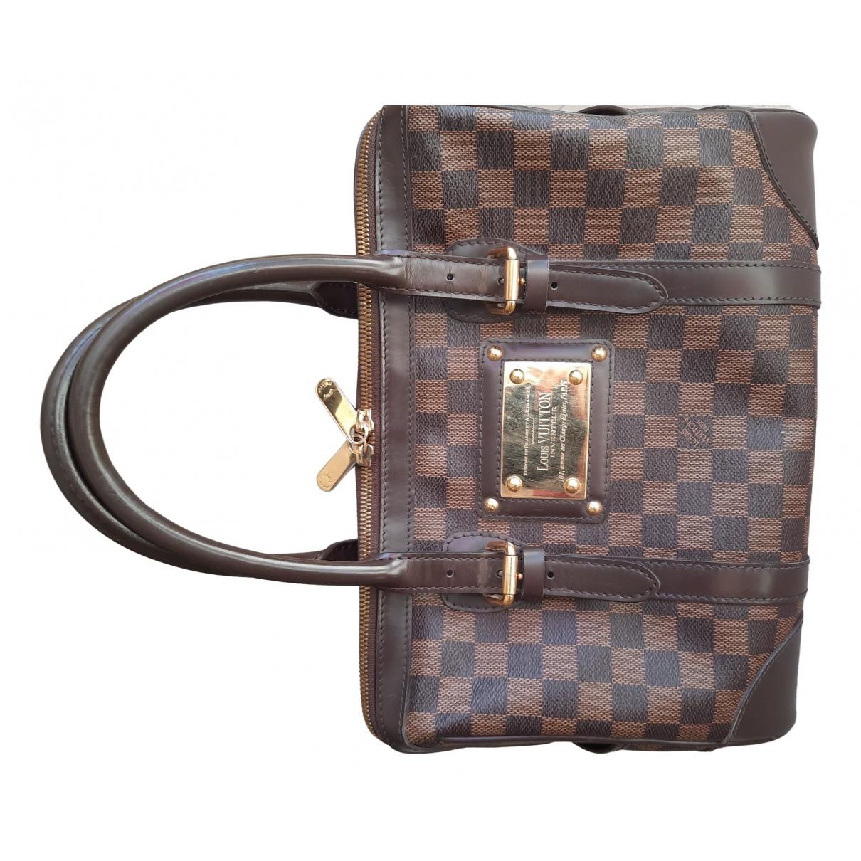 Louis Vuitton Berkeley Handtasche in  Braun Leinen