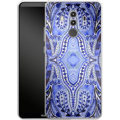 Huawei Mate 10 Pro Silikon Handyhuelle - Paisley Blue von Amy Sia