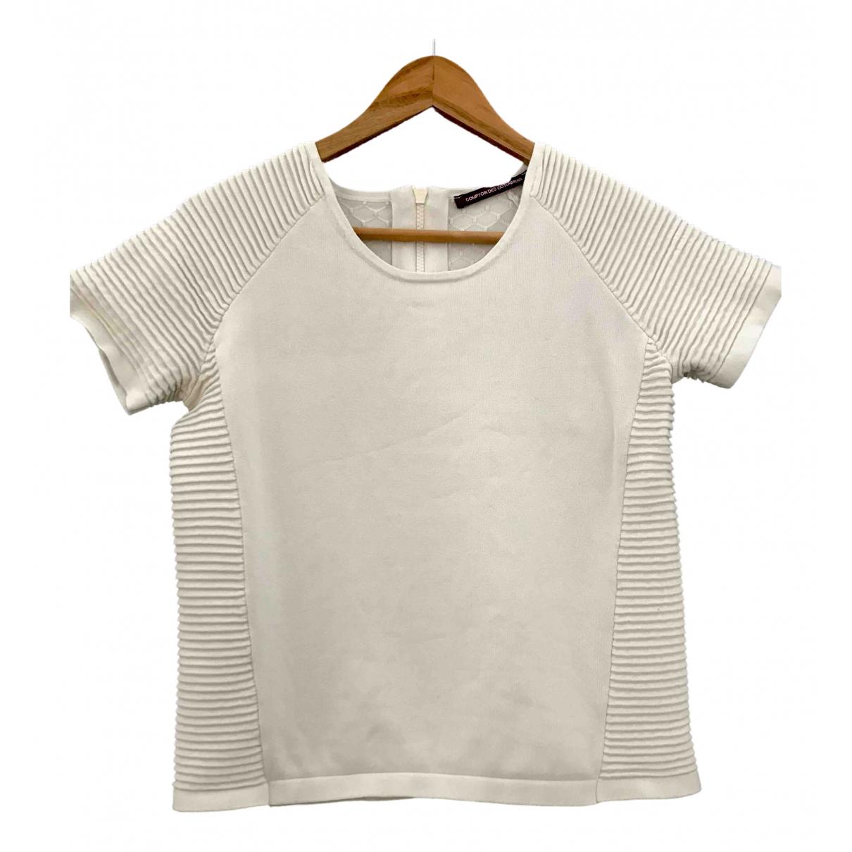 Comptoir Des Cotonniers - Pull   pour femme en coton - blanc