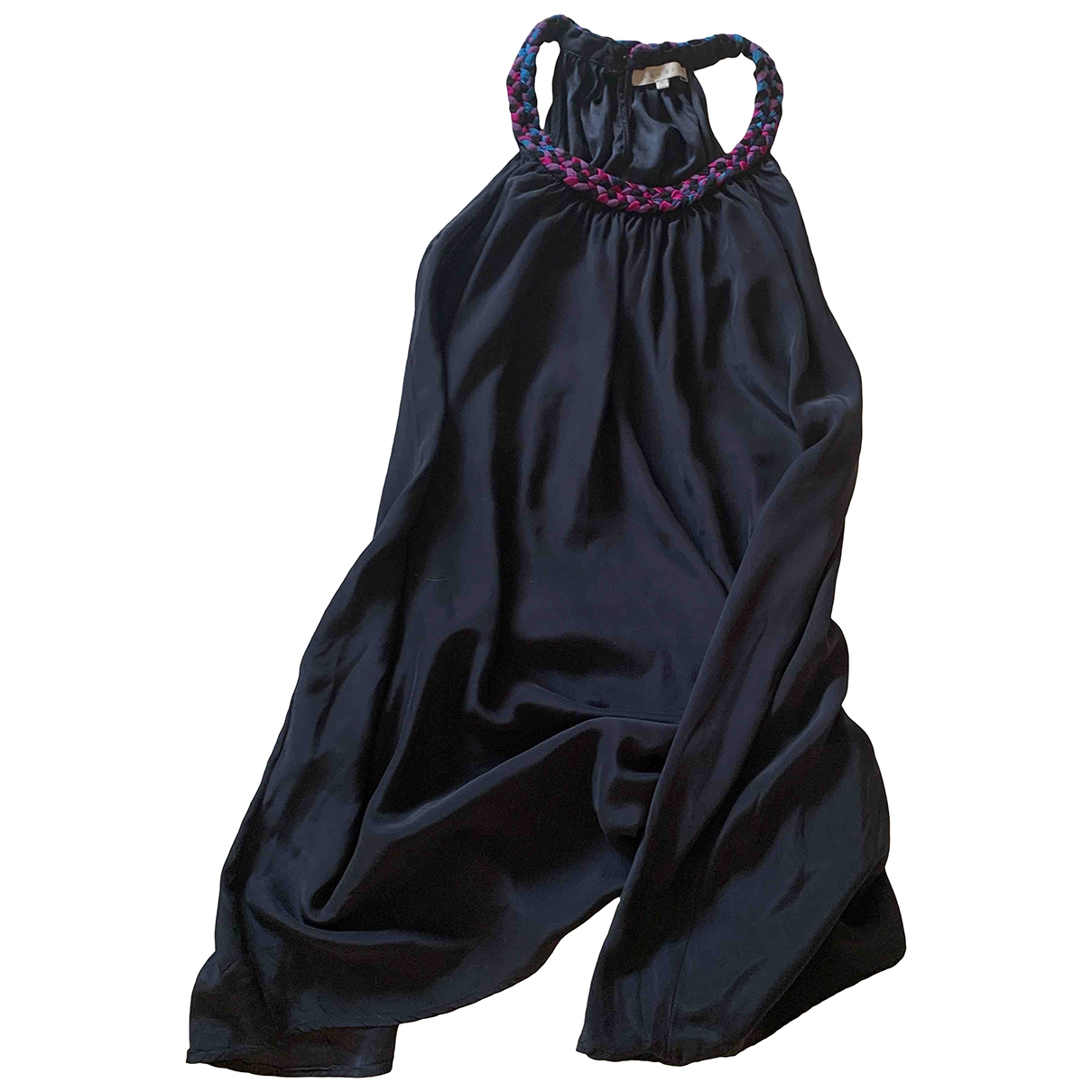 Sandro \N Kleid in  Schwarz Seide