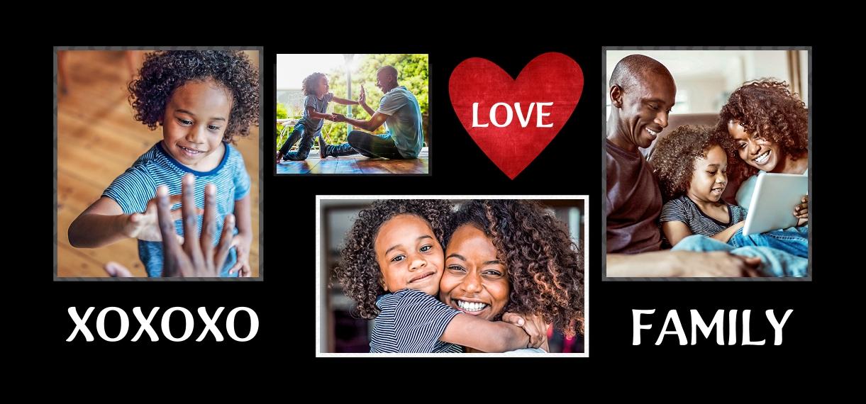 Baby + Kids 11 oz. Red Accent Mug, Gift -Family XOXOXO