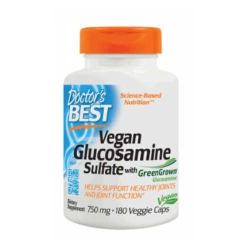 Vegan Glucosamine Sulfate with Green Grown 180 Veg Caps by Doctors Best