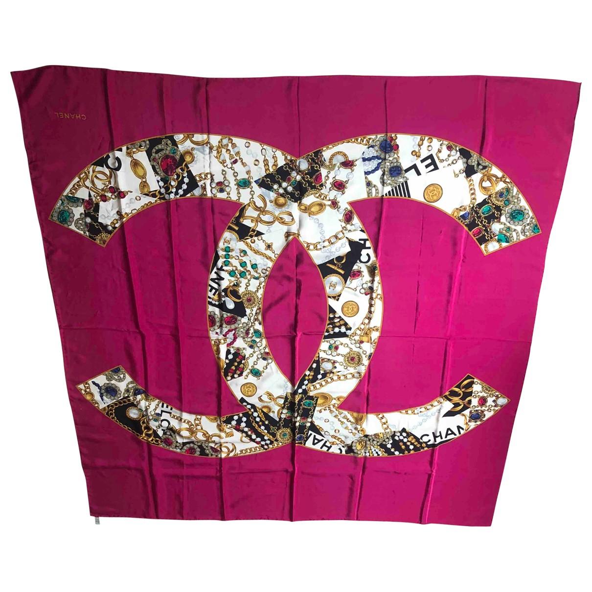 Chanel \N Schal in  Rosa Mit Pailletten