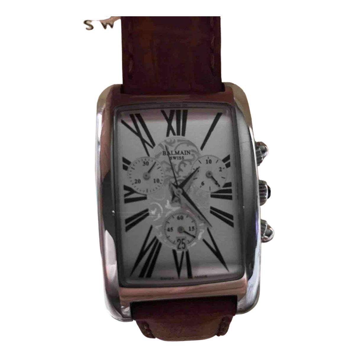 Balmain \N Uhr in  Bordeauxrot Stahl