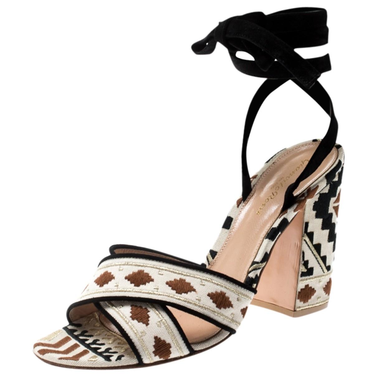 Gianvito Rossi \N Multicolour Suede Sandals for Women 39.5 EU