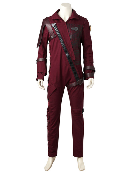 Milanoo Marvel Comics Marvel Movies Guardians Of The Galaxy 2 Baby Groot Dark Red Cosplay Costume In 4 Pieces Halloween