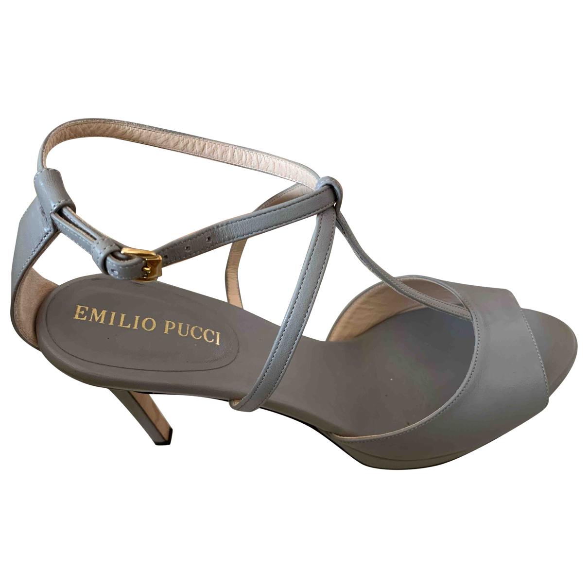 Sandalias de Cuero Emilio Pucci