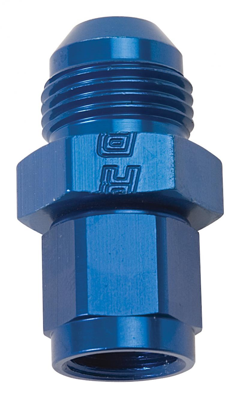Russell FITTING FLARE EXPANDER #6 AN FEMALE TO #8 AN MALE BLUE ANODIZED FINISH
