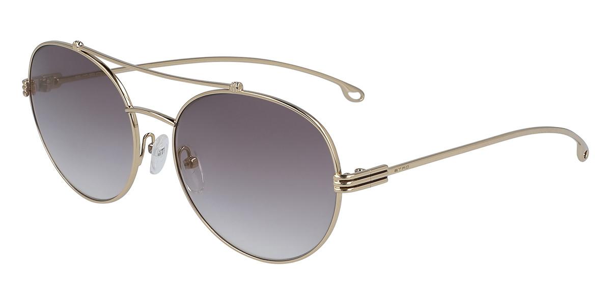 Etro ET 118S 731 Women's Sunglasses Gold Size 57