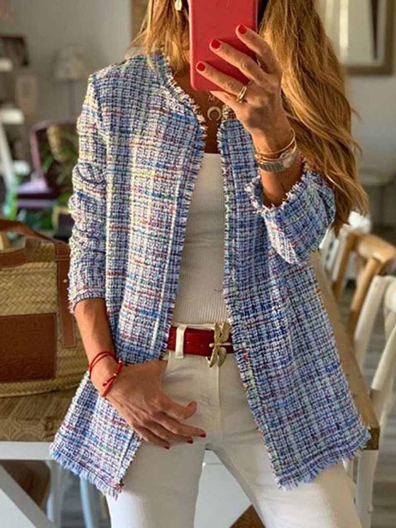 Ericdress Regular Straight Mid-Length Womens Overcoat