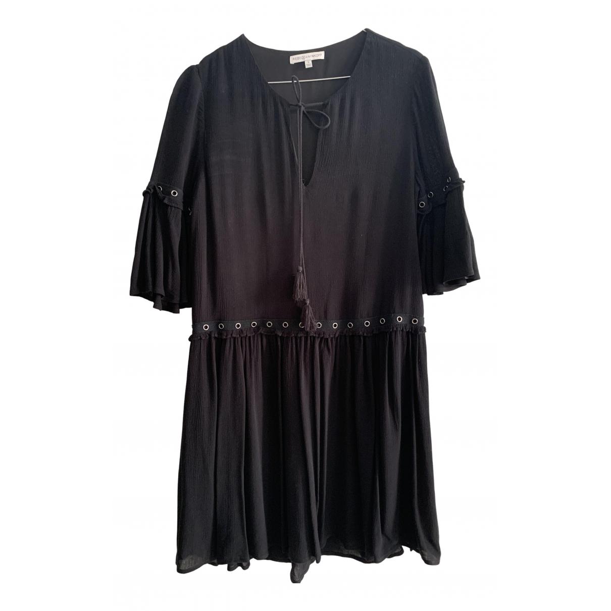 Rebecca Minkoff \N Kleid in  Schwarz Viskose