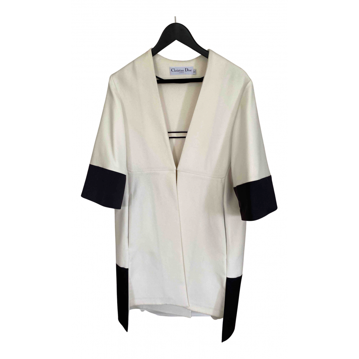 Dior N White Wool coat for Women 34 FR