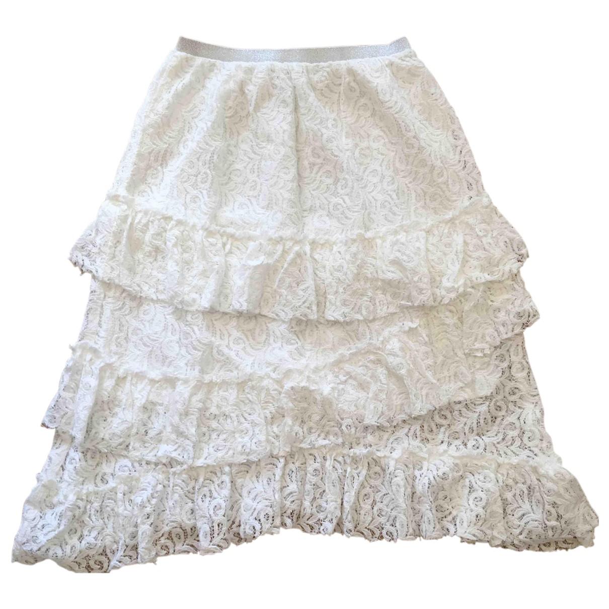 Suncoo - Jupe   pour femme en coton - blanc