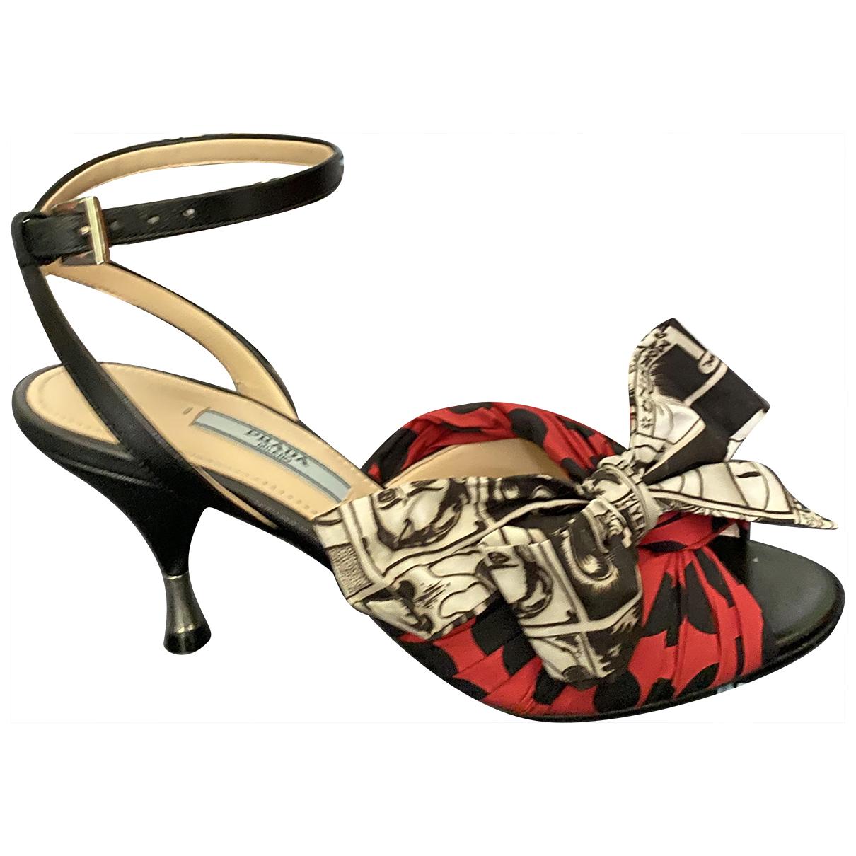 Prada - Sandales   pour femme en cuir - multicolore