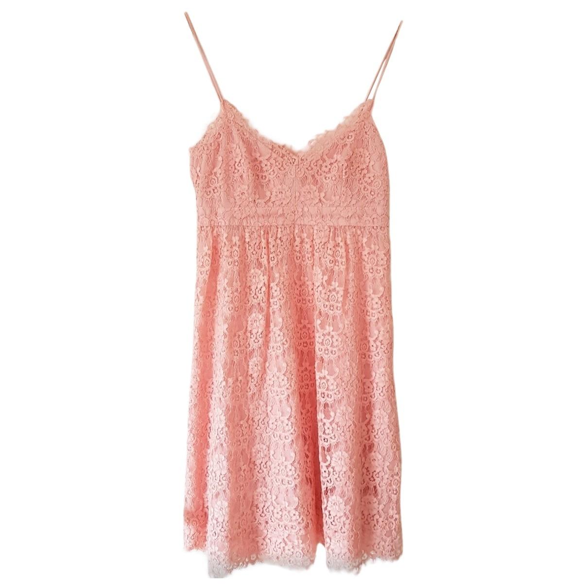 Claudie Pierlot - Robe   pour femme en dentelle - rose