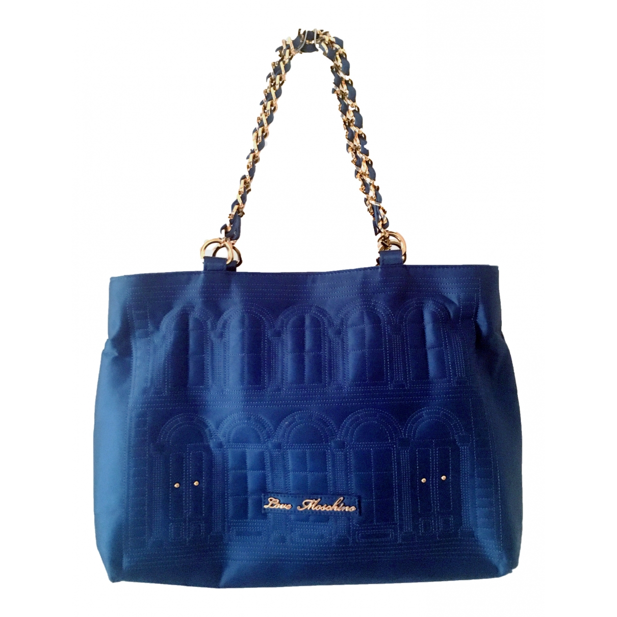 Moschino Love - Sac a main   pour femme en soie - bleu