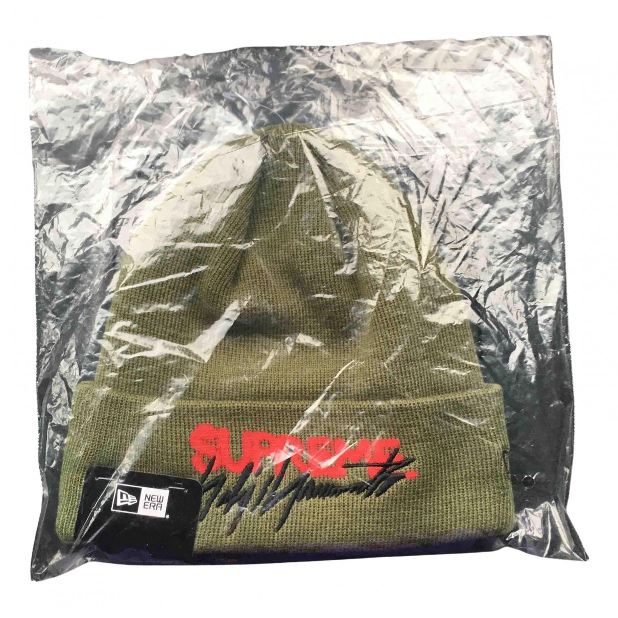 Supreme - Chapeau & Bonnets   pour homme en coton - vert