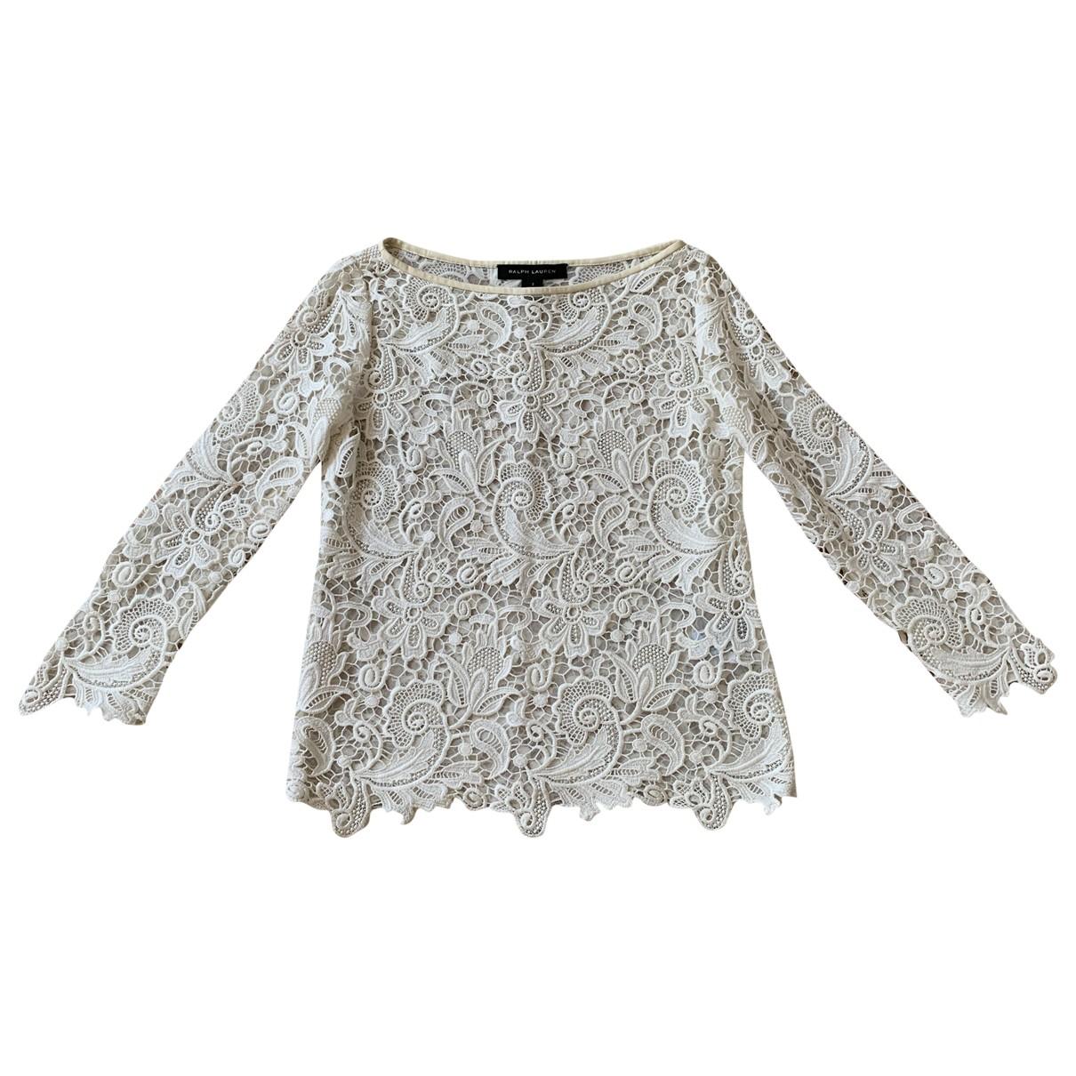 Ralph Lauren Collection \N Top in  Ecru Baumwolle