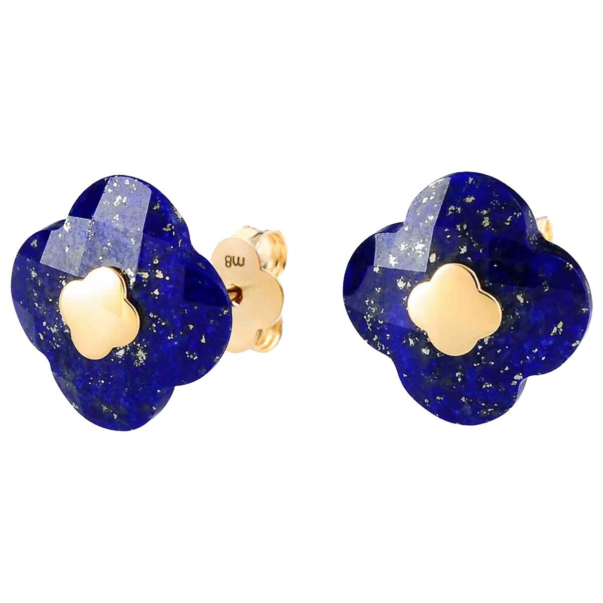 Morganne Bello - Boucles doreilles   pour femme en or jaune - bleu