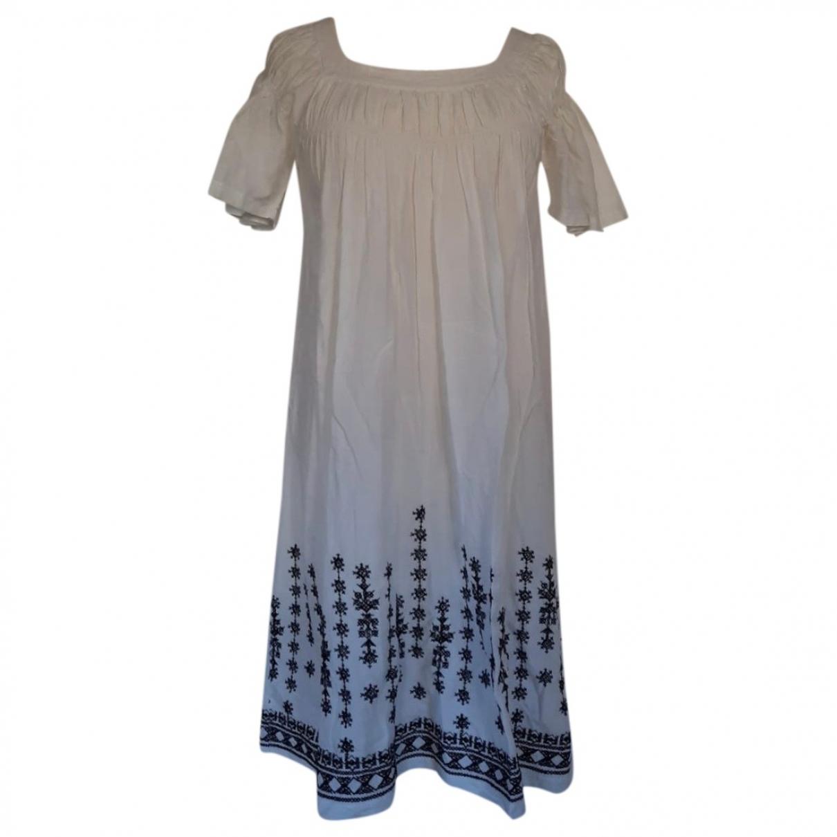 Maje - Robe   pour femme en coton - blanc