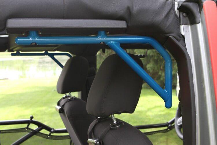 Steinjager J0041232 Grab Handle Kit Wrangler JK 2007-2018 Rigid Design Rear for 4 Door JKU Playboy Blue