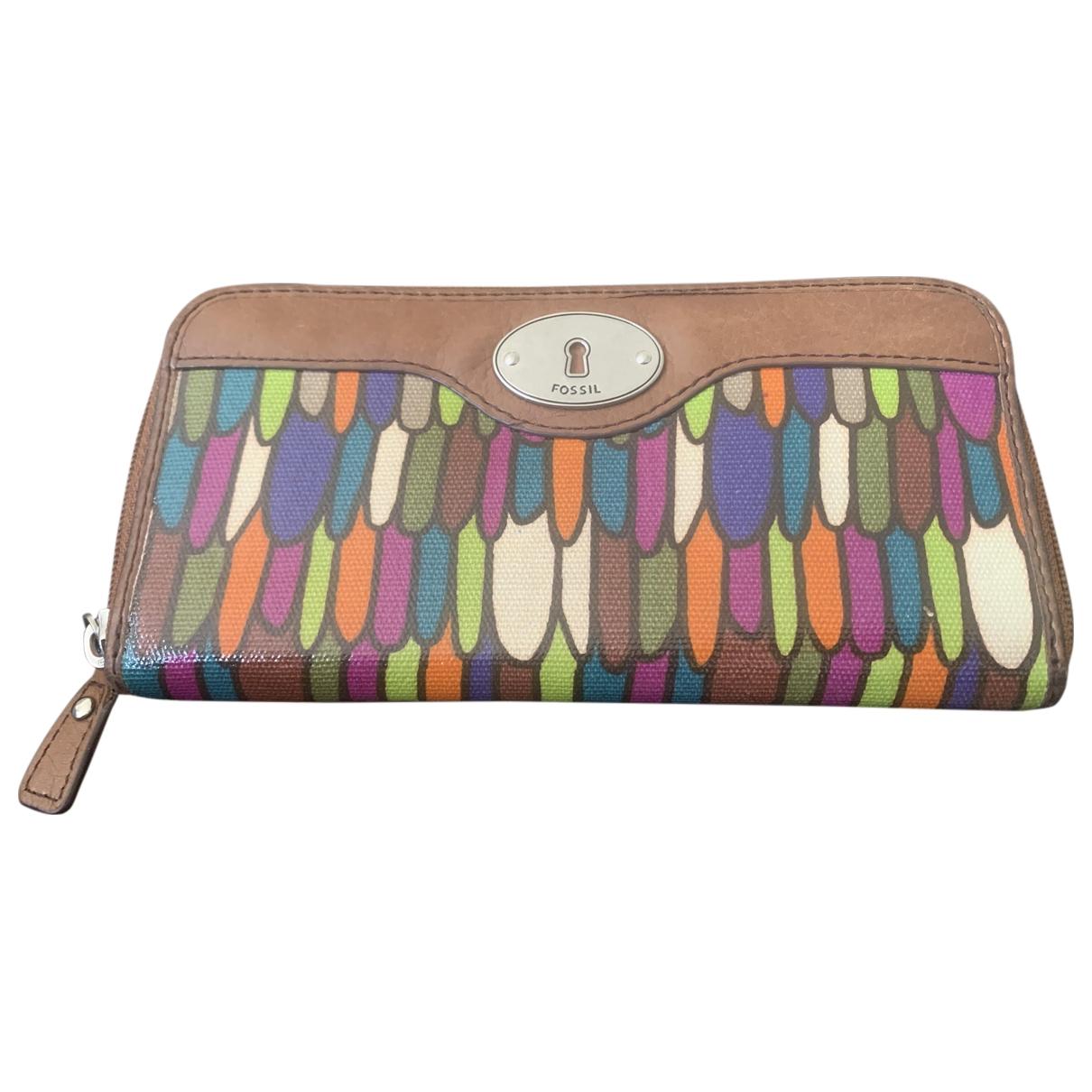 Fossil - Portefeuille   pour femme en cuir - multicolore