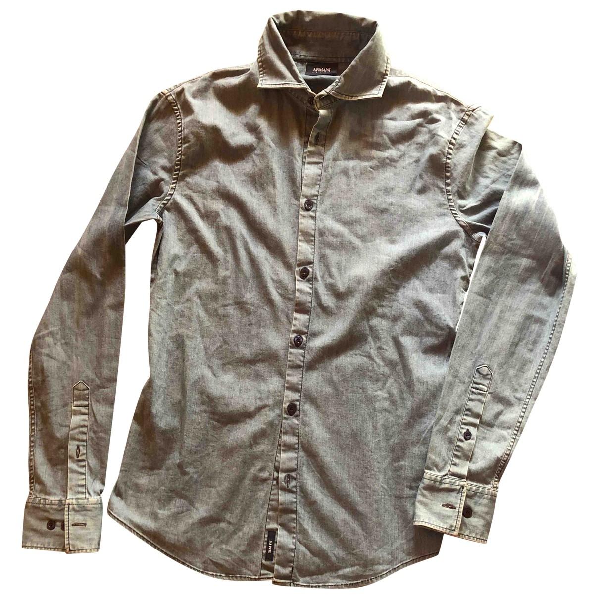 Armani Jeans \N Hemden in  Blau Baumwolle