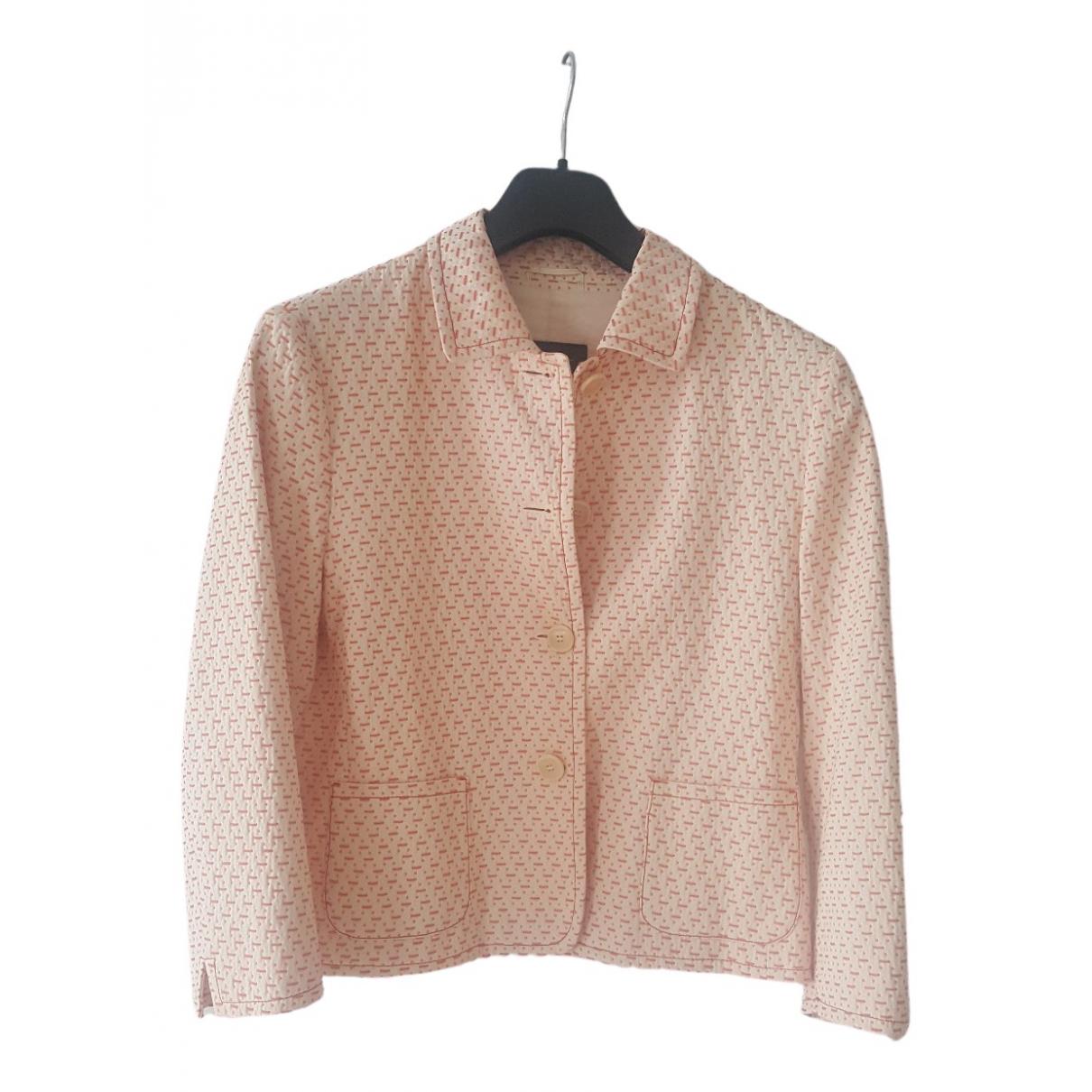 Max Mara Weekend \N Pink Cotton jacket for Women 44 IT