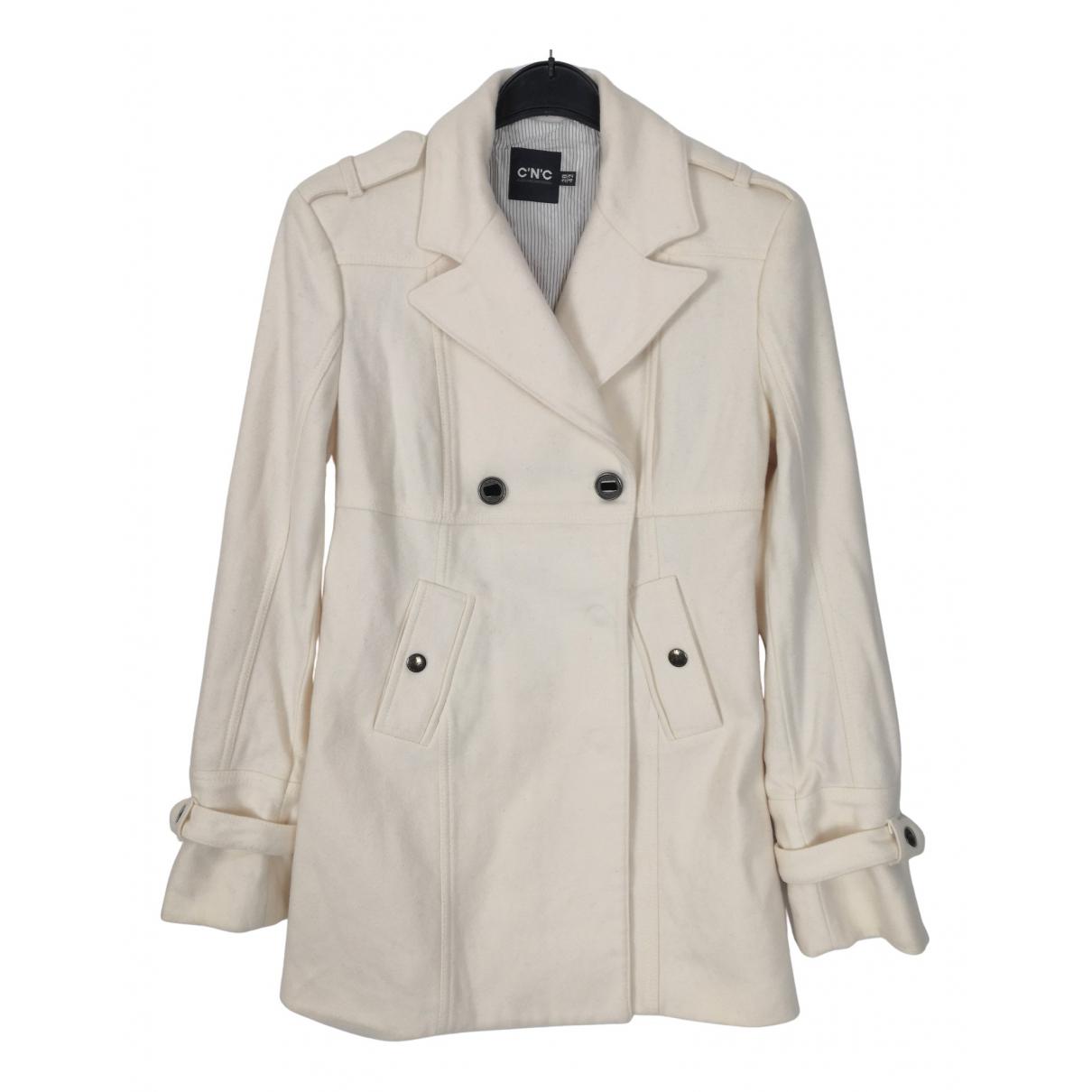 Costume National - Manteau   pour femme en laine - beige