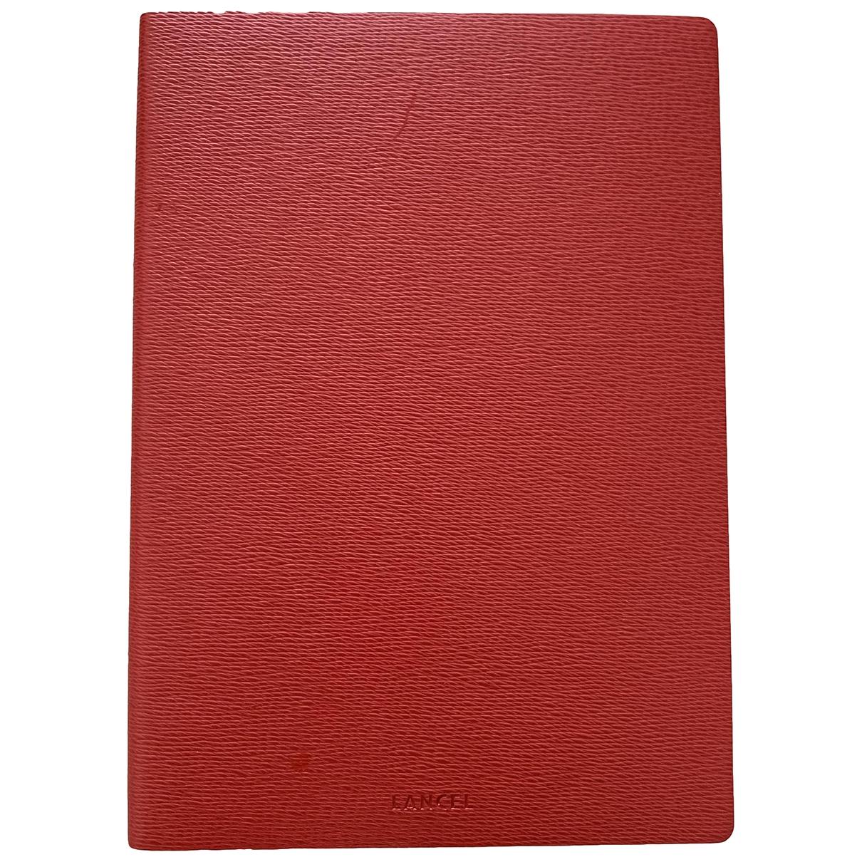 Lancel \N Kleinlederwaren in  Rot Leder