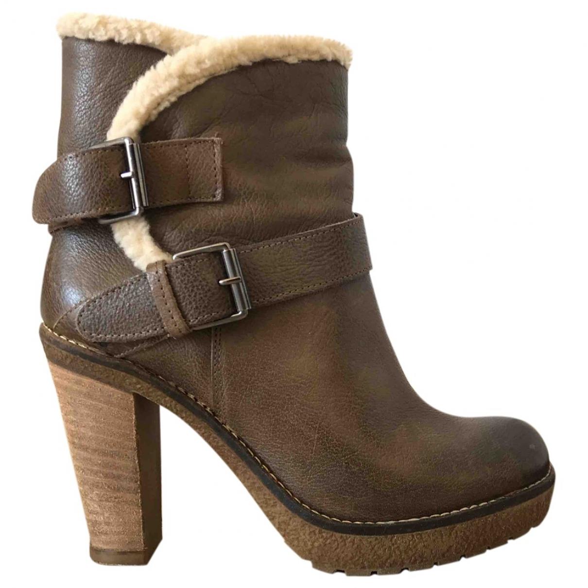 Chiarini Bologna - Boots   pour femme en cuir - marron