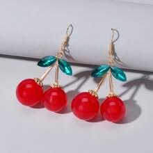 Cherry Charm Drop Earrings