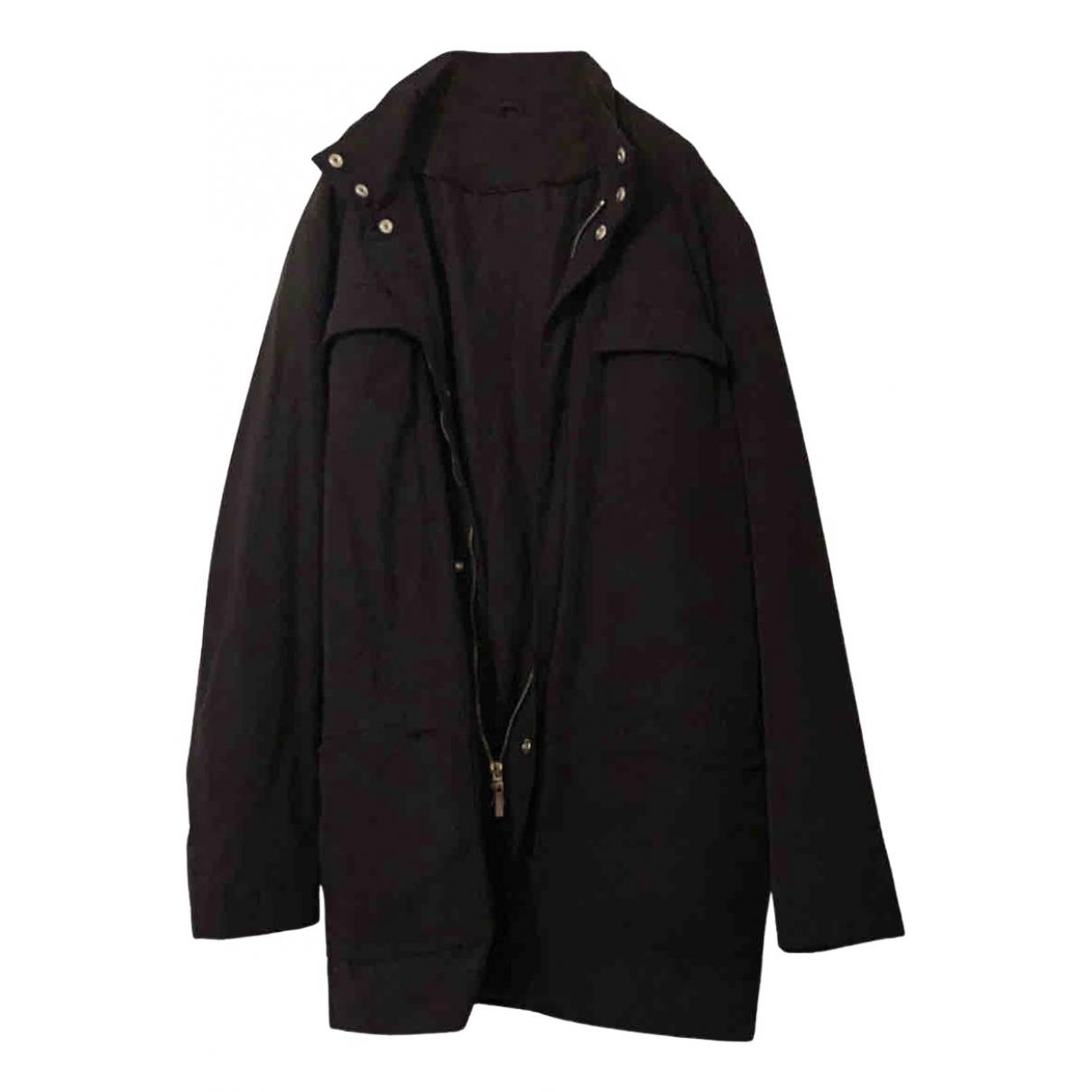 De Fursac - Manteau   pour homme en coton - noir