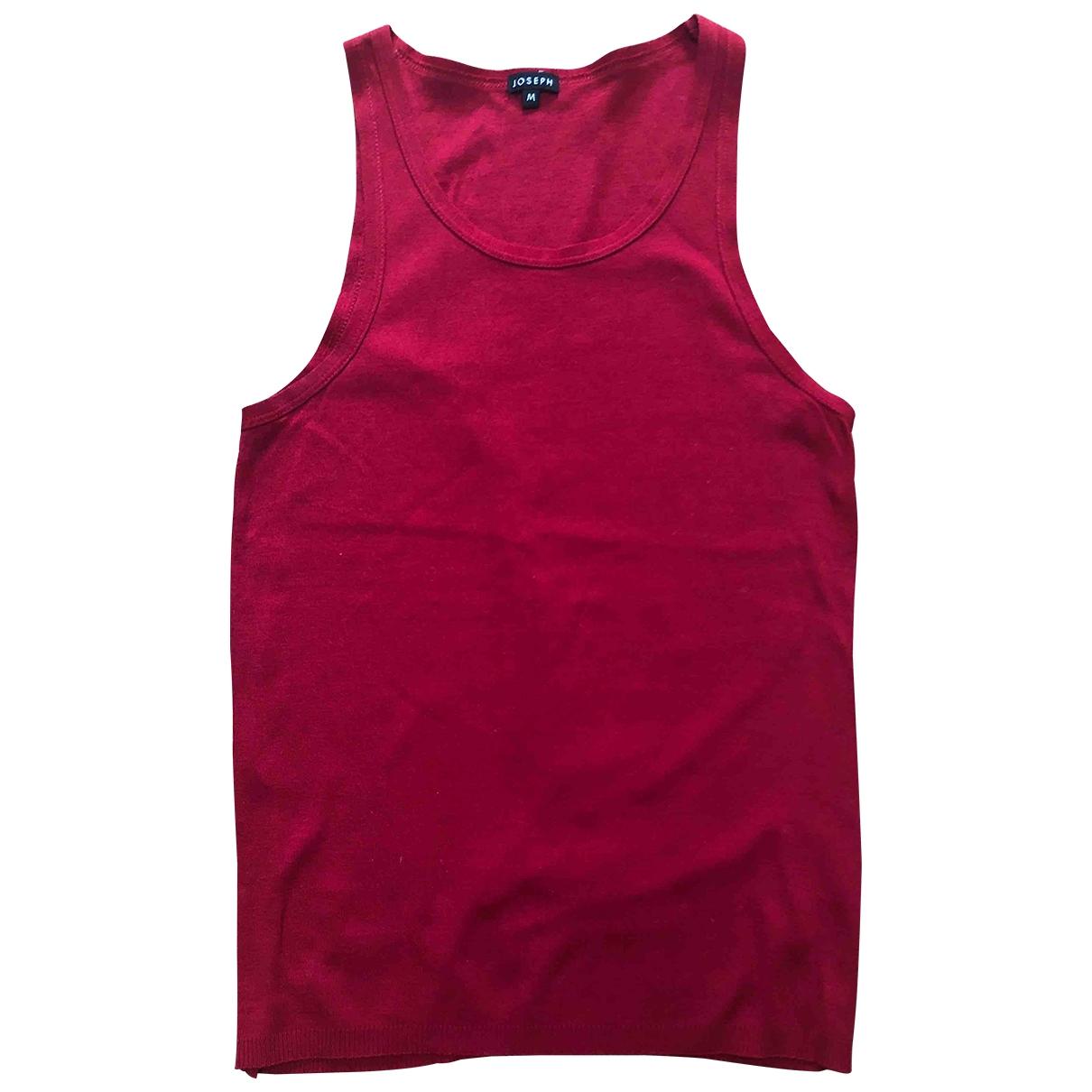Joseph - Top   pour femme en coton - rouge