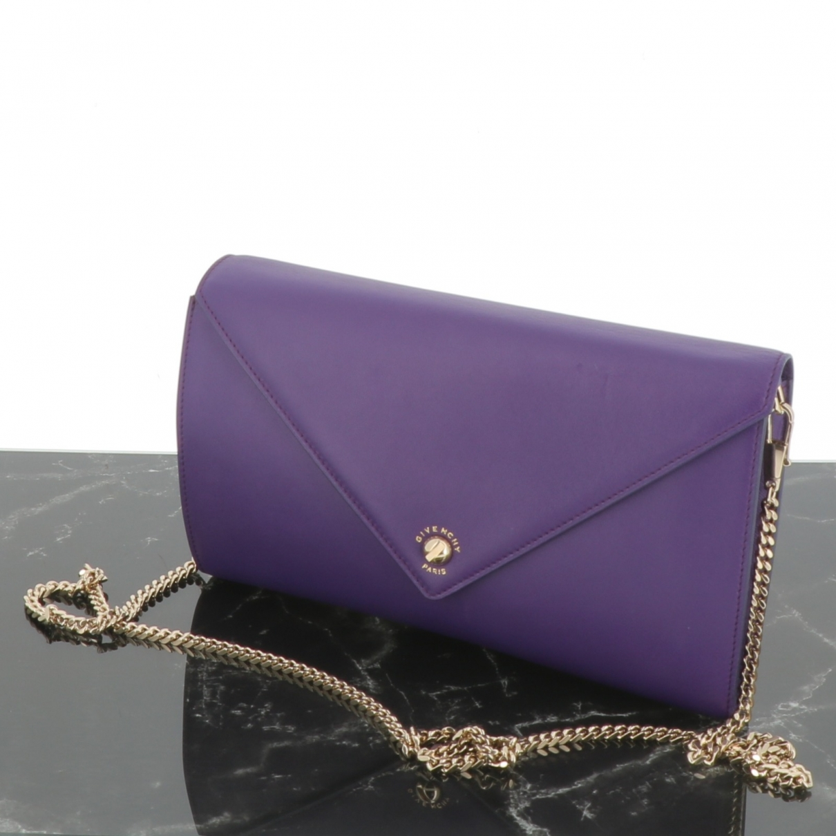 Givenchy \N Purple Leather Clutch bag for Women \N