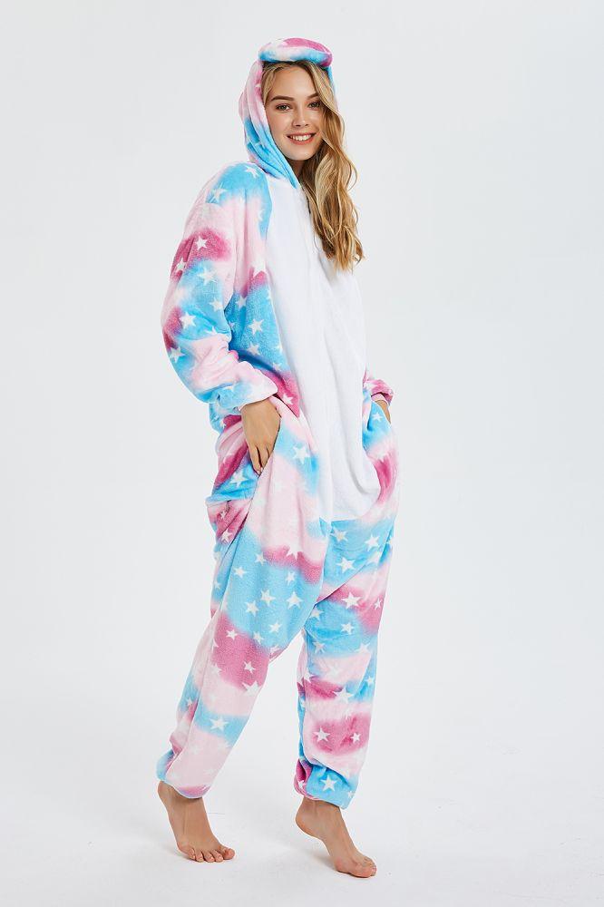 Nouvelle Hiver Femmes Adulte Mignon De Bande Dessinee Onesies Animaux Pyjama Stitch Pologne Pegasus Kigurumi Flanelle Nuisette Vetements De Nuit