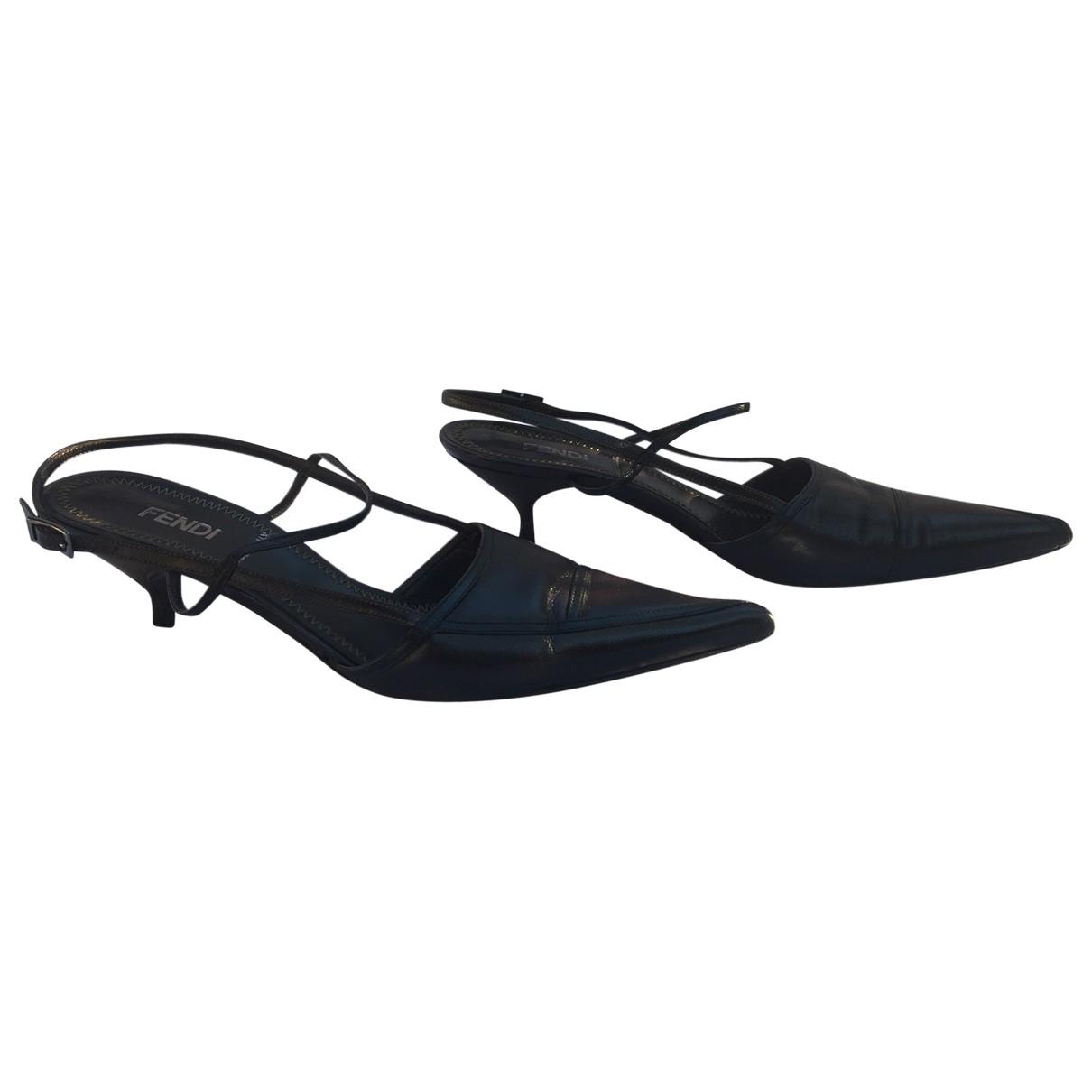 Fendi \N Brown Leather Heels for Women 35 IT