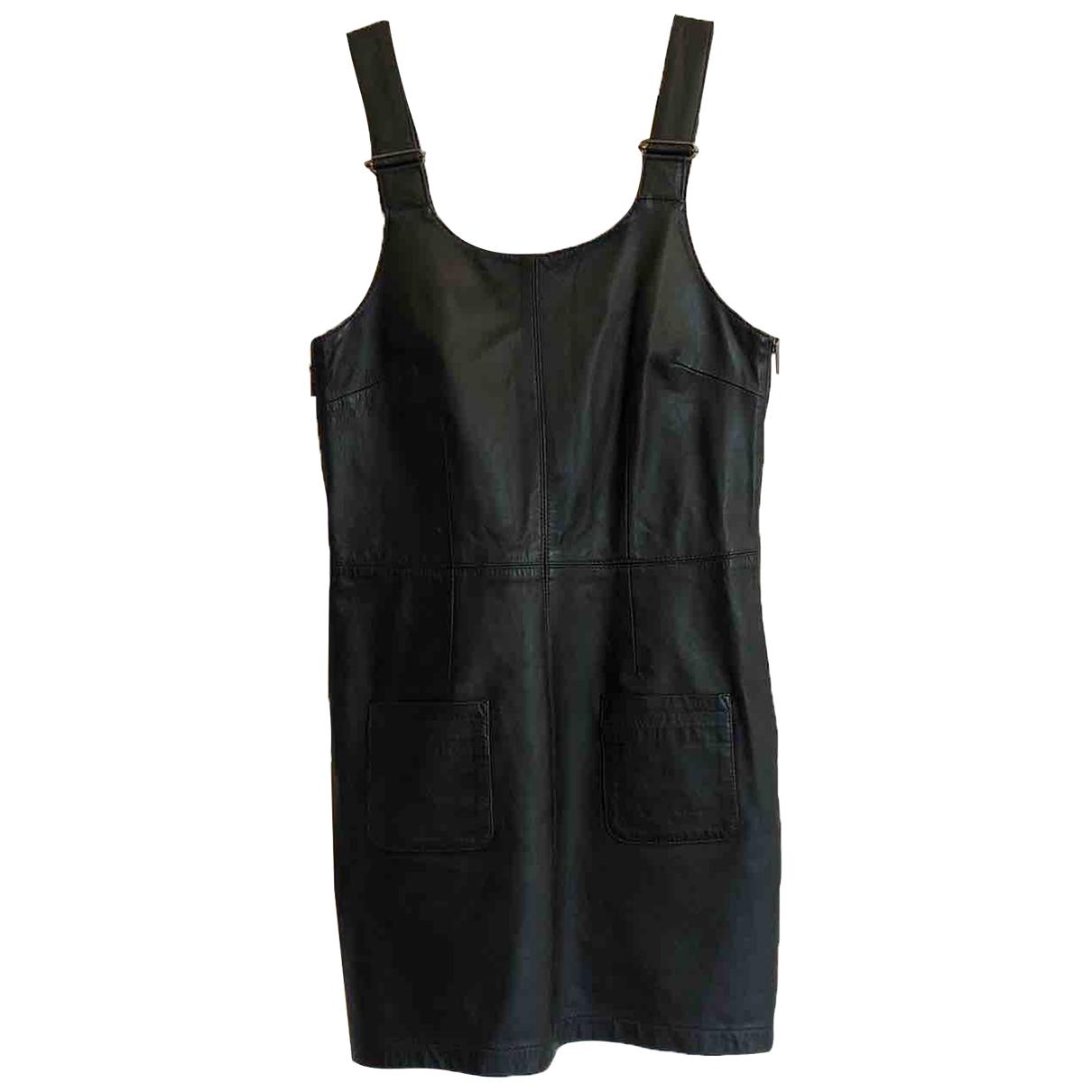 Topshop Boutique - Robe   pour femme en cuir - noir