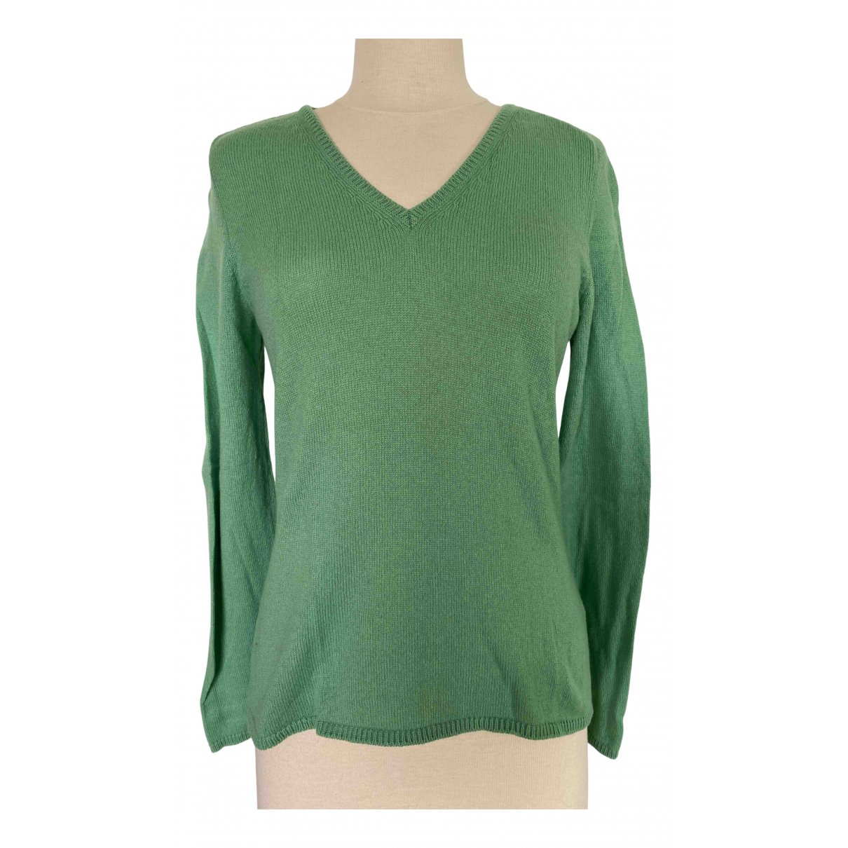 Malo - Pull   pour femme en cachemire - vert