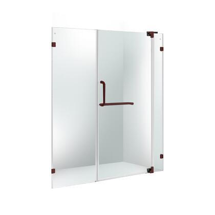VG6042RBCL66 VIGO Pirouette 66-inch Frameless Shower Door 3/8