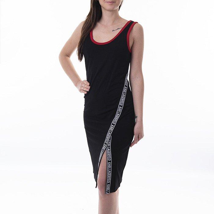 Karl Lagerfeld Jersey Snaps Detail Dress 201W1361 999