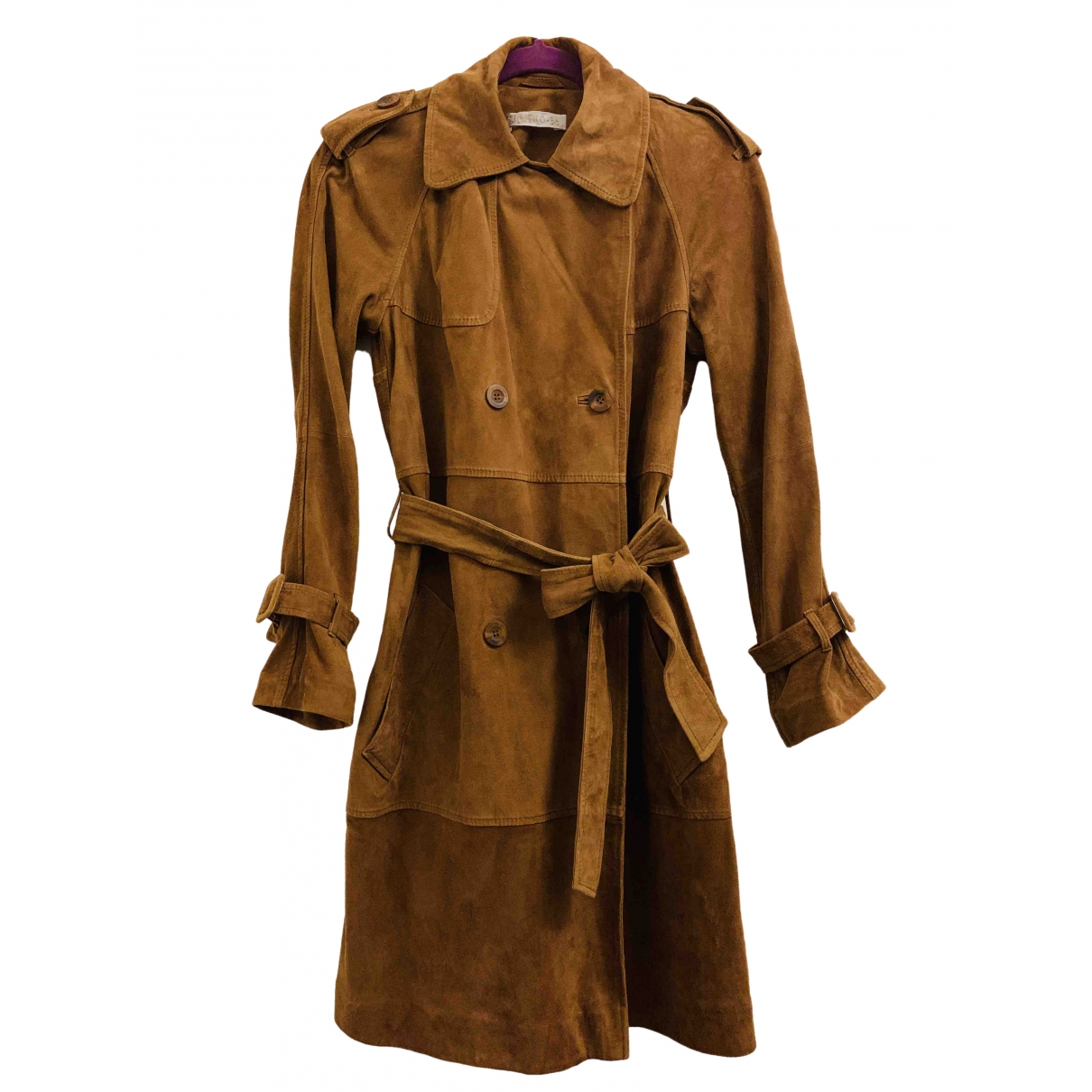 Non Signé / Unsigned \N Brown Leather jacket for Women S International