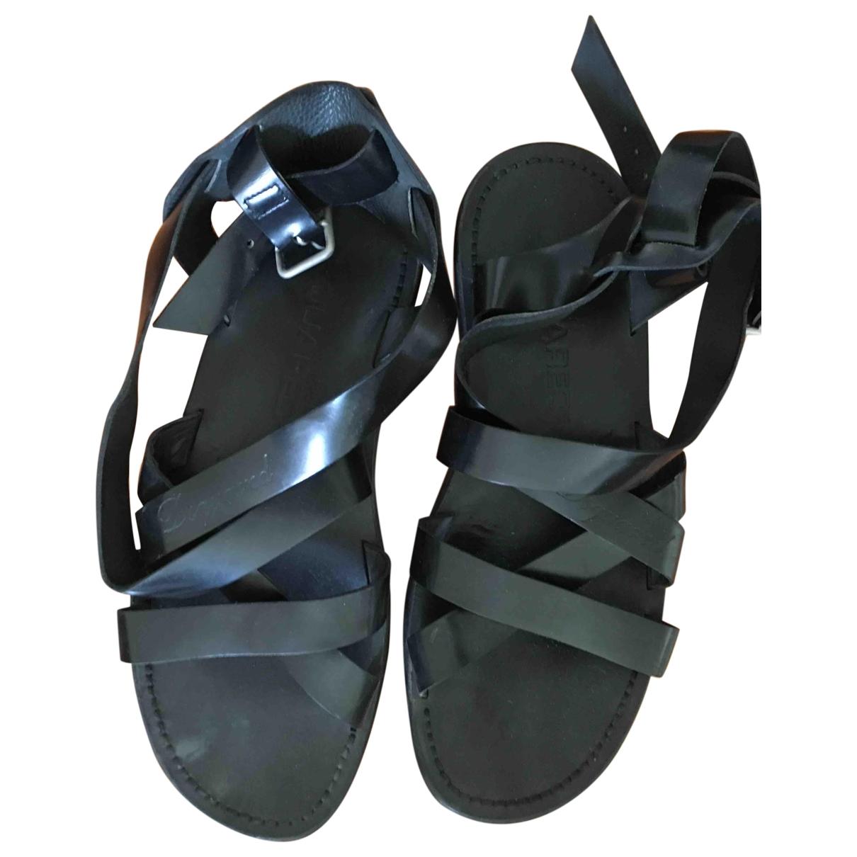 Dsquared2 \N Black Leather Sandals for Men 41 EU