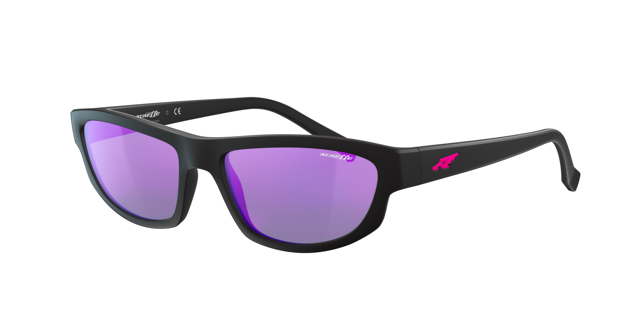 Arnette Unisex  AN4260 -  Frame color: Negro, Lens color: Violeta, Size FA-LS/145