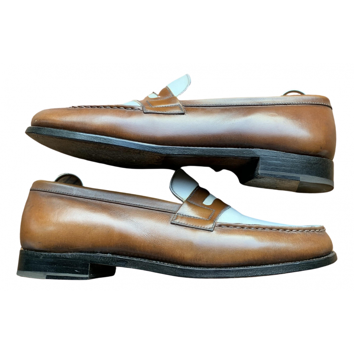 Jm Weston \N Brown Leather Flats for Women 4 UK