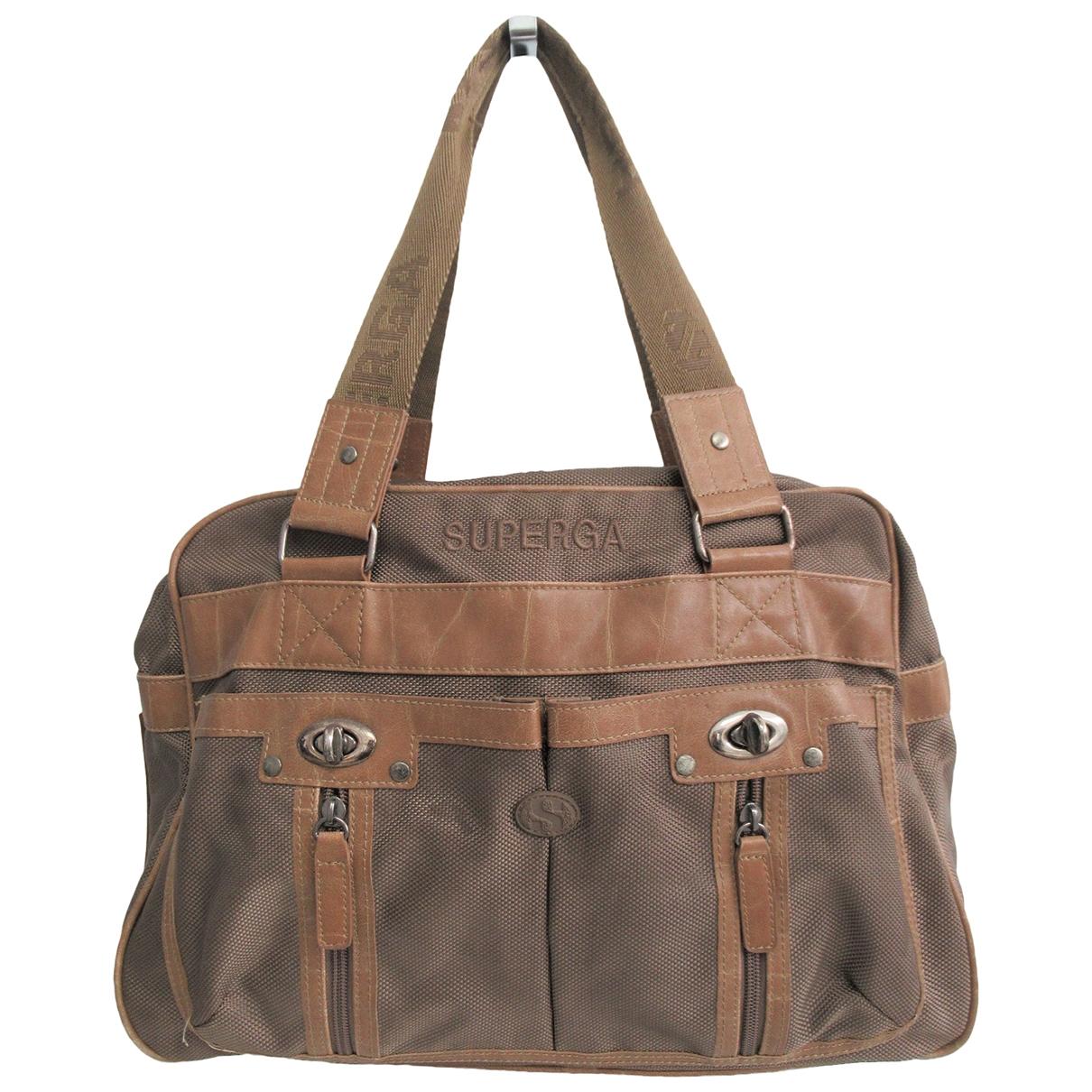 Superga \N Handtasche in  Gruen Leinen