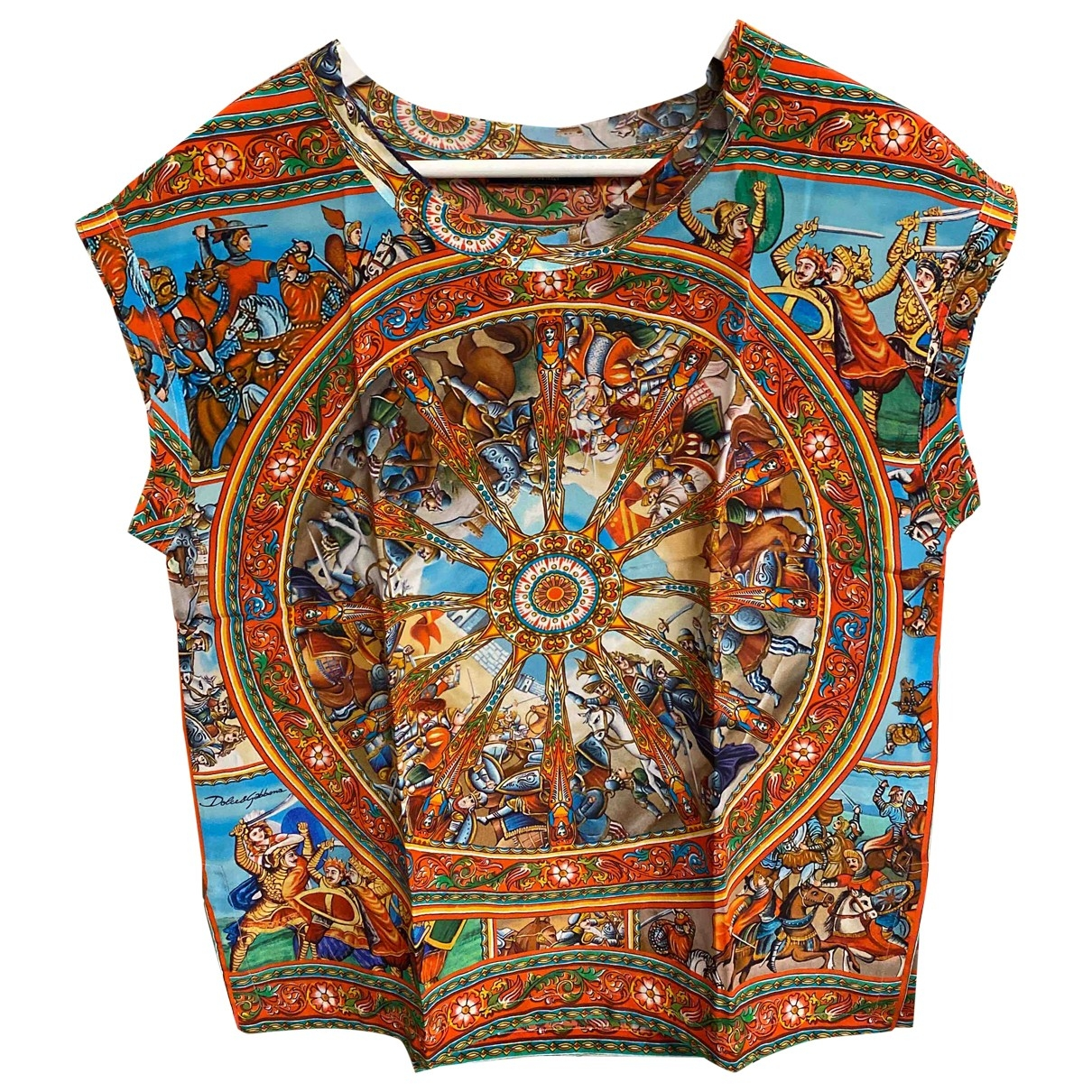 Dolce & Gabbana - Top   pour femme en soie - multicolore