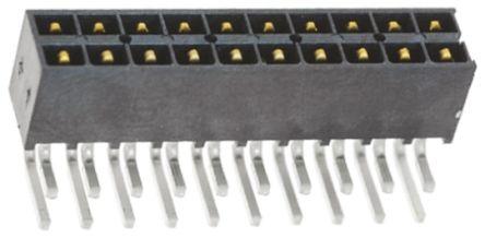 Samtec , IPT1 Mini Mate, 20 Way, 2 Row, Right Angle PCB Header