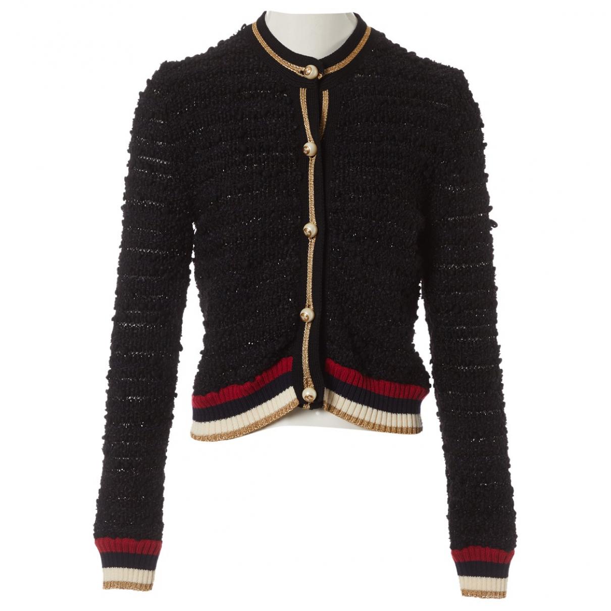 Gucci \N Pullover in  Schwarz Baumwolle